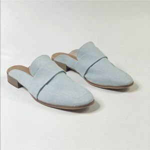 Free People Textile Loafer Mules in denim Size 41